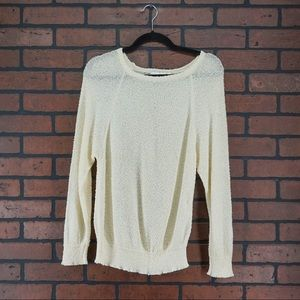 VINTAGE 80s French Rags Cream Puff Sleeve Sweater